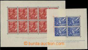 64752 - 1942 Mi.Bl.1-2, Nizozemská legie, aršík Bl.1 2x mírně p