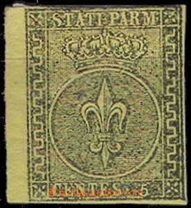 64770 - 1852 Mi.1a Znak, žlutý papír, nepravidelný střih, nále