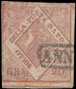 64771 - 1858 Mi.6 Znak, starorůžová barva, nepravidelný střih,