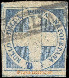 64774 - 1860 Mi.9, Savojský kříž, nepravidelný střih, zbytek n