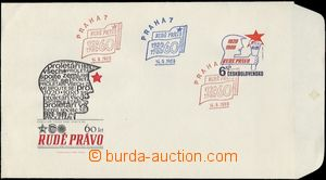 64775 - 1980 COB67, ministerská, 2x červené razítko + 1x modré,