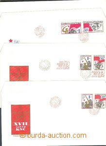 64777 - 1986 3 pcs of ministerial FDC, 2x XVII. Congress of Communis