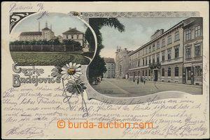 64816 - 1904 České Budějovice - pivovar, 2-okénková koláž, DA, prošl