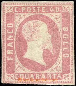 64818 - 1851 Mi.3a King Victor Emanuel II., without gum, flecks afte