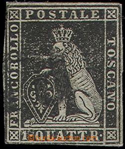 64857 - 1851 Mi.1y Lev, nepřesný střih, zbytky nálepek, zk. Rich