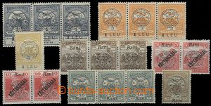 64867 - 1919 Nové Romania, selection of overprints on/for Hungarian
