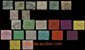 64868 - 1852-68 ITALY / Papal States  selection of 22 pcs of stamps,