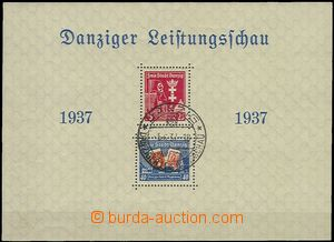 64883 - 1937 Mi.Bl.3, aršík Gdaňská výstava, kat. 110€