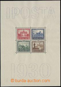 64889 - 1930 Mi.Bl.1, aršík IPOSTA, rozměry sedí, kat. 1500€