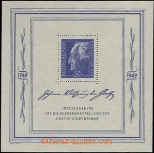 64890 - 1949 SOWJETISCHE ZONE  Mi.Bl.6, aršík Goethe, rozměry sed