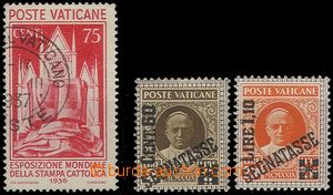 64942 - 1931-36 comp. 3 pcs of stamps, Mi.55 + porto Mi.5+6, No.55 u