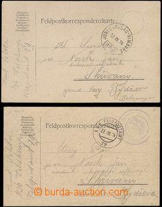 64961 - 1914 2ks lístků ze začátku války adresovaných do Čech