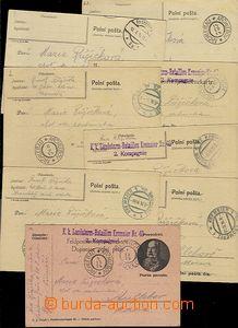 64964 - 1914 sestava 19ks lístků zaslaná na začátku války bez