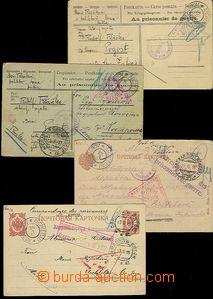 64966 - 1915-16 sestava 11ks různých lístků zasílaných od a na