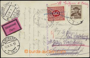 64981 - 1936 postcard sent in Austria to Vienna, redirected to Karlo