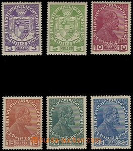 64990 - 1917 Mi.4-9 Coat of arms and prince, whole set, excellent qu