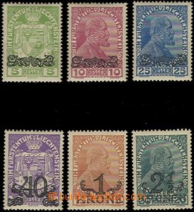 64992 - 1920 Mi.11-16 přetiskové, výborná kvalita, kat. ANK 60�