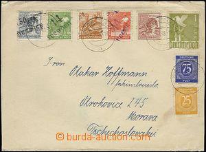 65002 - 1948 SOWJETISCHE ZONE  celý novinový rukáv s bohatou fran