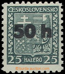 65004 - 1938 ASCH Mi.1/I., strong overprint on stmp Coat of arms 25h