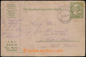 65023 - 1914 S.M.S. ADRIA  censor black cancel. with date 16.XII.14