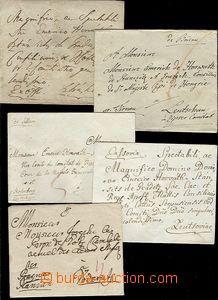 65028 - 1780-1800 sestava 10ks dopisů, část z Vídně na Slovensk