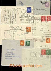 65034 - 1940-46 comp. 7 pcs of letters and Ppc, correspondence membe