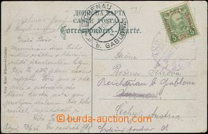 65047 - 1906 postcard from Cetinje with Mi.53 5h green, to Bohemia,