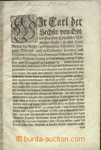 65048 - 1726 Wir Carl der Sechste, 12stránkový dokument