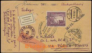 65052 - 1956 Pešákova mailing printed-matter to Switzerland to cam