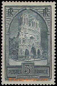 65121 - 1930 Mi.256 cathedral in Rheims, T I., c.v.. 60€