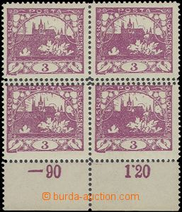 65135 -  Pof.3, line perforation 11½;, the bottom block of four