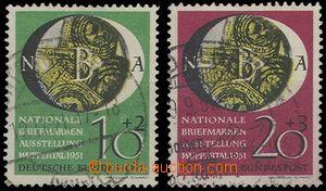 65147 - 1951 Mi.141-42 Výstava známek, 2x kratší zoubek, jinak z