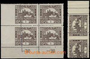 65158 -  Pof.1D, line perforation 11½;, selection of corner blo