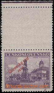 65166 - 1939 Alb.20KH přetisková 4Kč, kupón horní s okrajem, za