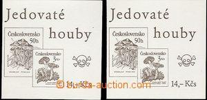 65173 - 1991 2ks známkových sešitků Jedovaté houby se zn. Pof.2