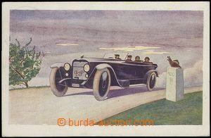 65190 - 1922 automobil PRAGA, reklamní pohlednice; prošlá, dobrý sta