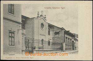 65193 - 1905 Eger (Hungary), synagogue; long address, Un, good condi