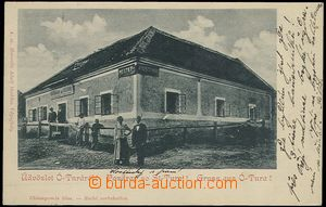 65194 - 1905 STARÁ TURÁ (Ótura) - městský hostinec, lidé; DA, prošlá