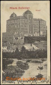 65199 - 1903 Mladá Boleslav - hrad, netradiční formát 9x4,5cm; DA, p