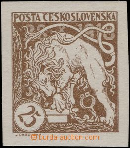 65213 -  Pof.28Na, imperforated light brown, superb, exp. by Karasek