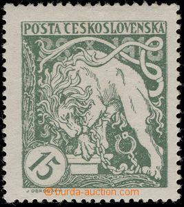 65215 -  Pof.27Aa, light green, exp. by Gilbert.., c.v.. 1600CZK