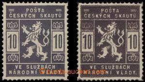 65234 - 1918 trial print 10h in violet and fialověhnědé color, c.