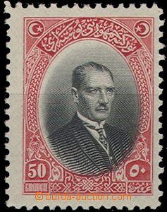 65268 - 1926 Mi.854 Mustafa Kemal, stopa po nálepce, kat. cca 100�