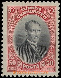 65270 - 1929 Mi.890 Mustafa Kemal, hinged, c.v.. ca. 130€