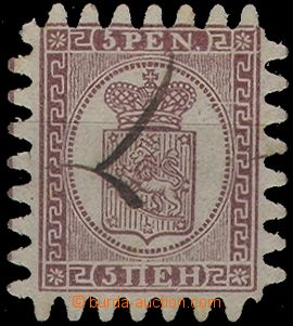 65287 - 1866 Mi.5C Coat of arms, cancelled strokes of pen, well pres