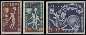 65290 - 1939 Mi.429-431 Basketball, imperforated, wide margins, ligh