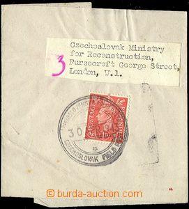 65295 - 1943 novinová páska vyfr. zn. 1d, DR Čs.PP 30.APR.1943, h