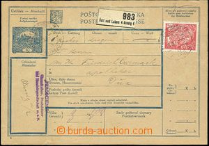 65328 - 1920 CZECHOSLOVAKIA 1918-39 / P.stat  CPP4B Czech - German t
