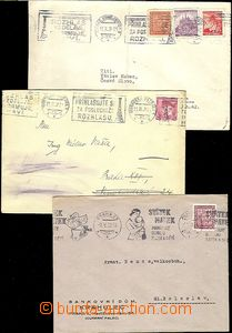65329 - 1939-40 comp. 6 pcs of letters, 3x letter with Czechosl. tur
