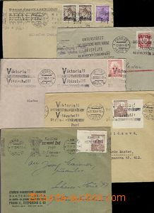 65330 - 1940-44 comp. 10 pcs of letters with advertising machine pos